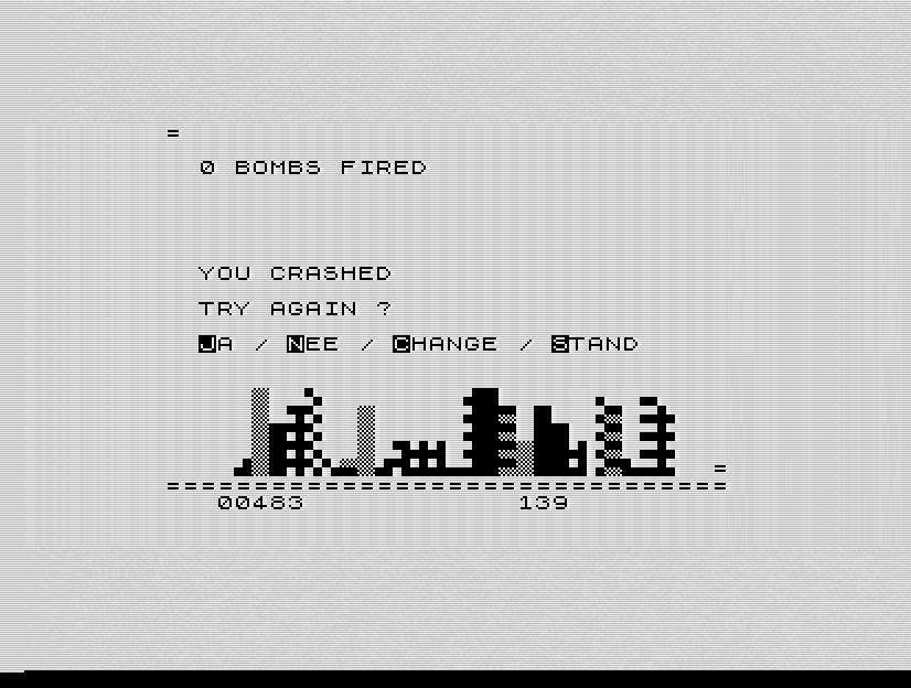 Ein typisches Spiel sah auf dem ZX81 etwa so aus. Abgebildet ist das Spiel NewCity. (Bild: Jens Sommerfeld)
