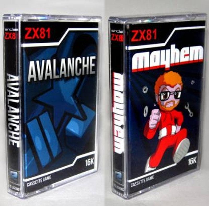 Avalanche (2011) und Mayhem (2011) für den ZX81 von Martijn Wenting. (Bild: Jens Sommerfeld)