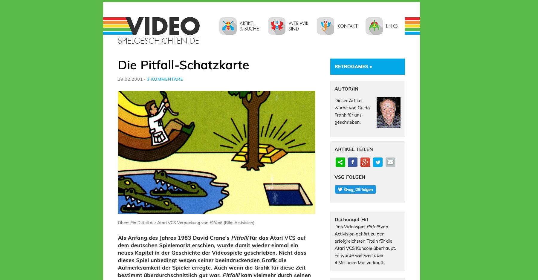 """Im Jahr 2009 wurde """"Videospielgeschichten.de"""" gegründet. Die Seite wurde komplett in HTML geschrieben. Zeitraum: 2009-2016. (Bild: André Eymann)"""