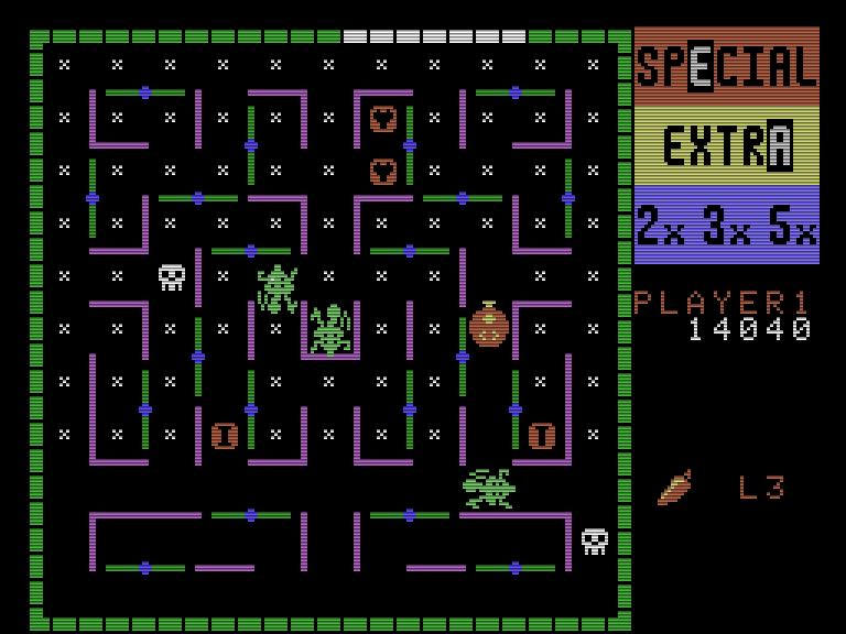 Bei Lady Bug spielt man einen Marienkäfer, der von gefährlichen Insekten durch ein Labyrinth gejagt wird. Ziel ist es alle Tautröpchen aufzusammeln. (Bild: Taito)