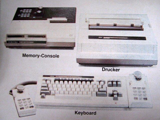 Die Erweiterungen rund um das Heimcomputer-Ausbaumodul #3 (links oben), sollten das ColecoVision Videospiel in eine vollwertige Heimcomputer-Anlage verwandeln. (Bild: Coleco, ColecoVision Prospekt)