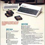 Der Werbeflyer, mit dem die Bit Corporation seinen Bit-60 und Bit-90 in Deutschland bewarben. (Bild: historycorner.de)