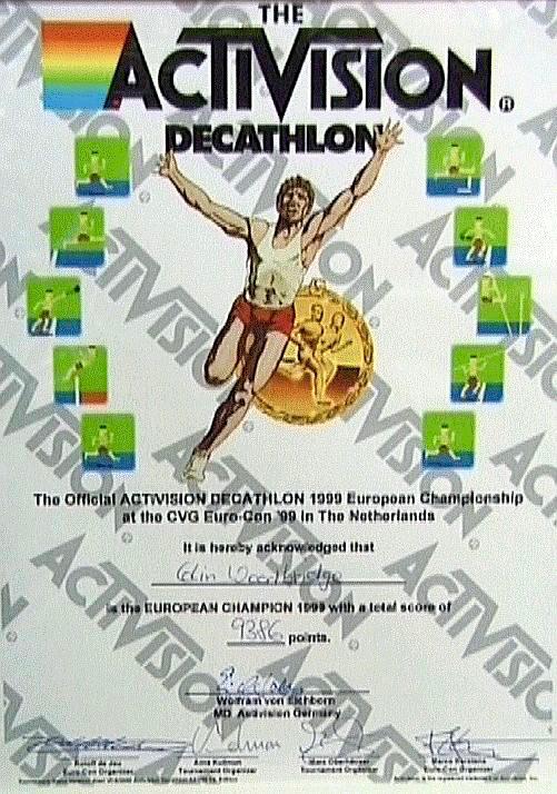 Urkunde für Decathlon auf der CVG Euro-Con 1999. (Bild: Guido Frank)