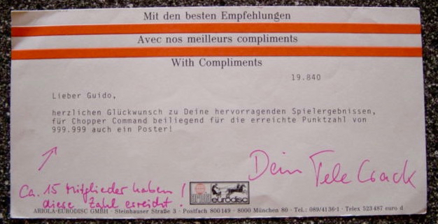 """Eine Glückwunschkarte vom """"Telecrack"""". (Bild: Guido Frank)"""