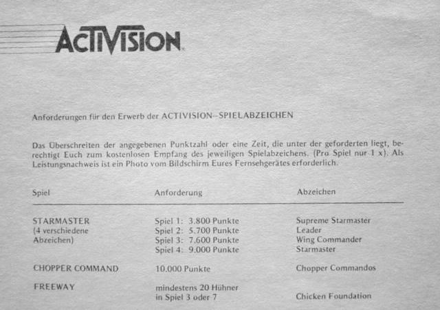 Anforderungen für Activision-Spezialabzeichen. (Bild: Guido Frank)