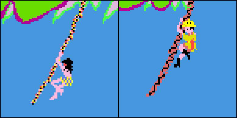Jungle King (links) und Jungle Hunt (rechts) aus den Taito-Spielhallenversionen. (Bild: Taito)