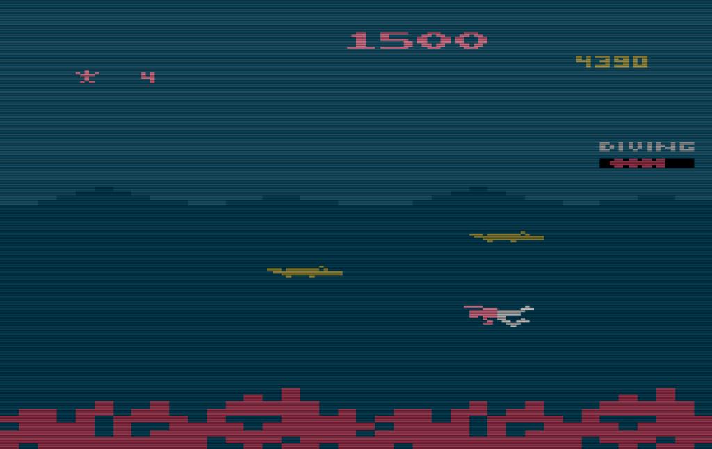 Level 2 von Jungle Hunt für das VCS. (Bild: Atari)