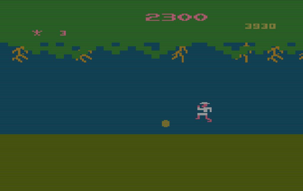 Level 3 von Jungle Hunt für das VCS. (Bild: Atari)