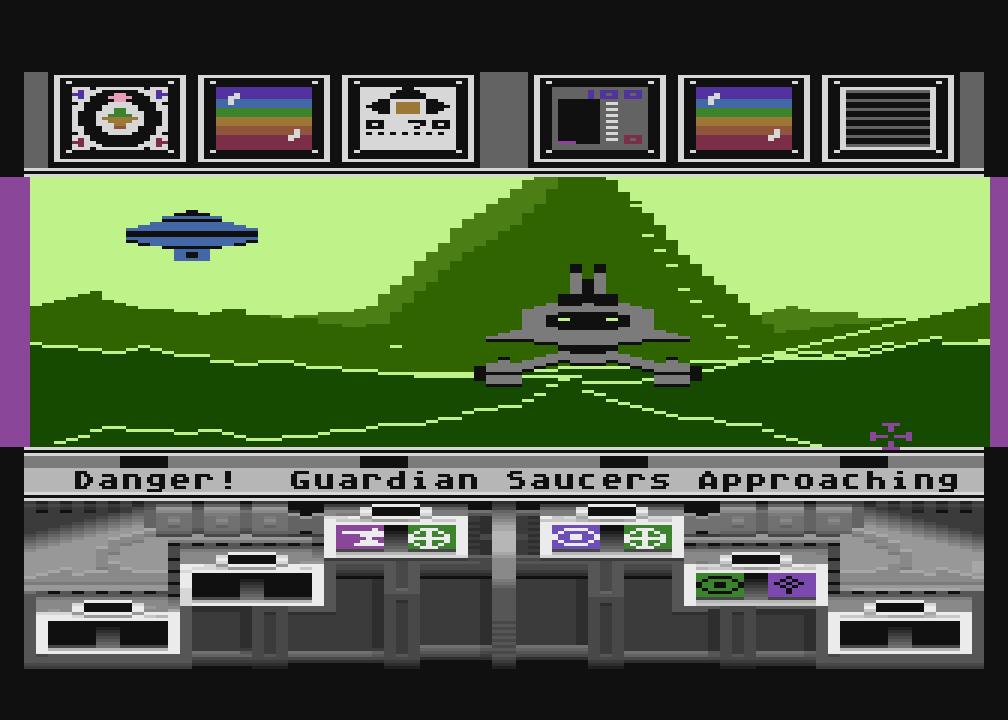 """Jetzt heißt es einen kühlen Kopf bewahren: ein seltsames Hulk mit leckerer Alientechnologie ist zum greifen nah, doch ein """"Guardian"""" hat auch noch ein Wörtchen mitzureden: ob man sich besser hinter dem rettenden Hügel verschanzen sollte? Die Mathematik-Hausübung kann jedenfalls warten. (Bild: Lucasfilm Games)"""