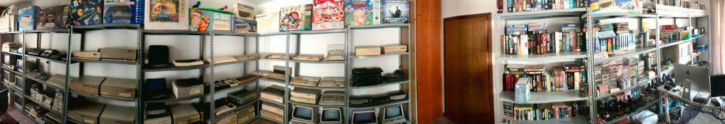 Die vollständige Sammlung auf einen Blick. Homecomputer soweit das Auge reicht. (Bild: Domingo Fivoli)