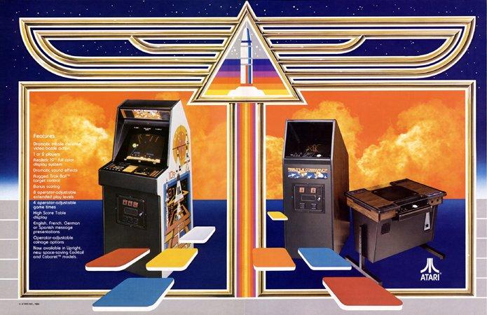 Die drei verschiedenen Automatenversionen von Missile Command. (Bild: Atari)