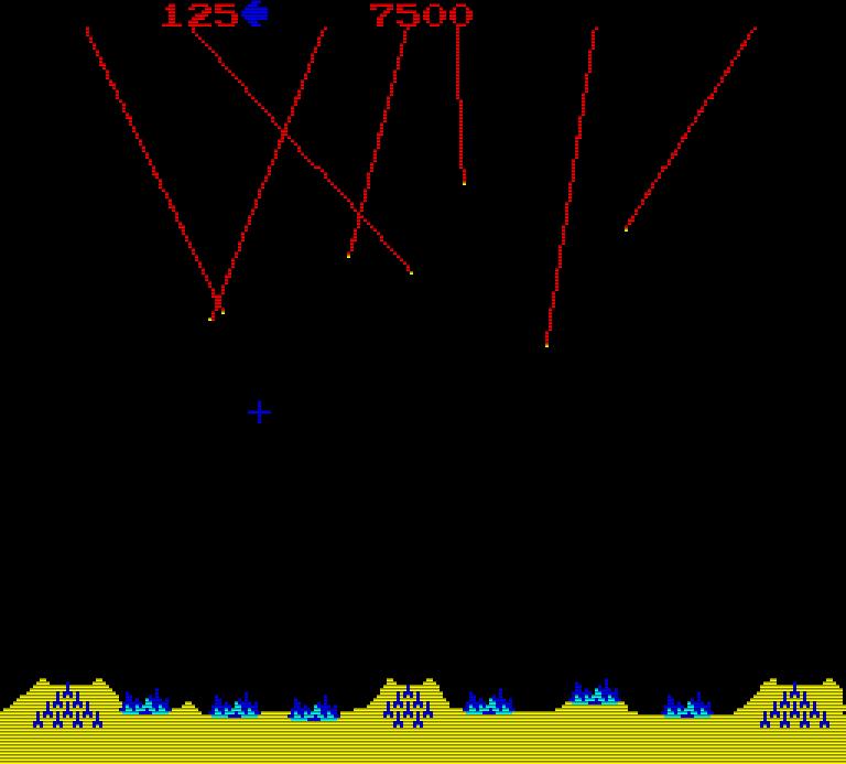Raketen über Kreuz erzeugen manchmal eine Kettenreaktion. (Bild: Atari)