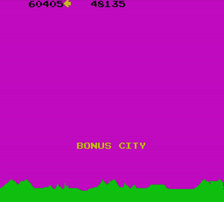 Alle 10.000 Punkte gibt es eine Bonus City. (Bild: Atari)