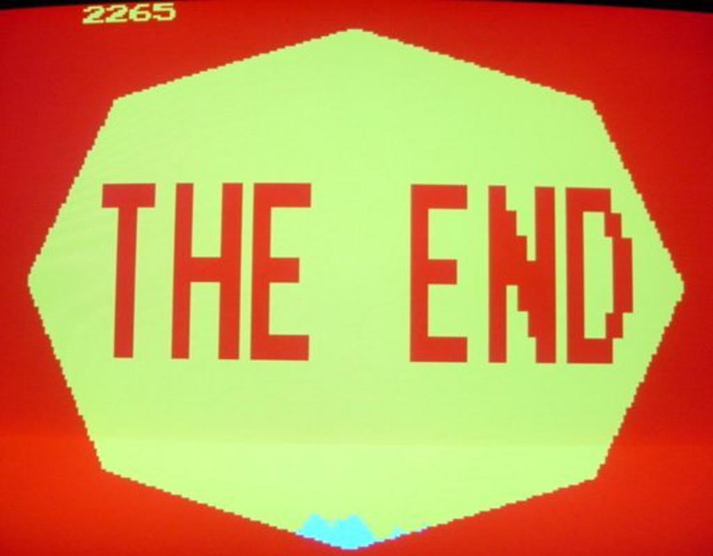 Das Ende der Welt. Bei einem Totalverlust, zeigt Missile Command dieses Bild. (Bild: Atari)
