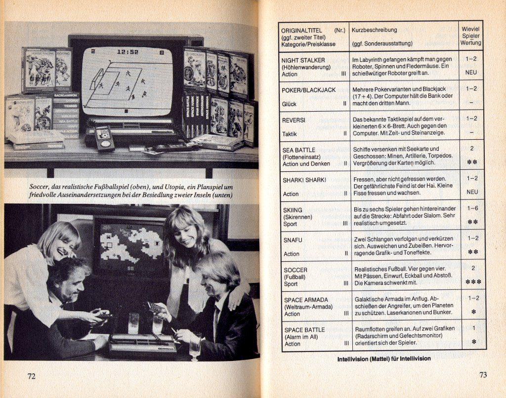 Leseprobe aus dem Kapitel Konsolen und Spiele - Mattel Intellivision. (Bild: Heyne Verlag)