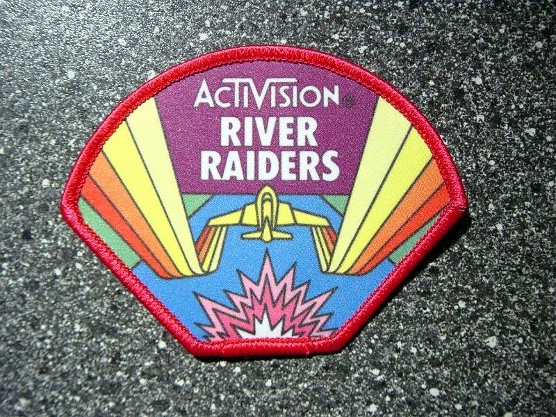 Ein River Raid Stoffaufnäher von Activision. (Bild: Guido Frank)