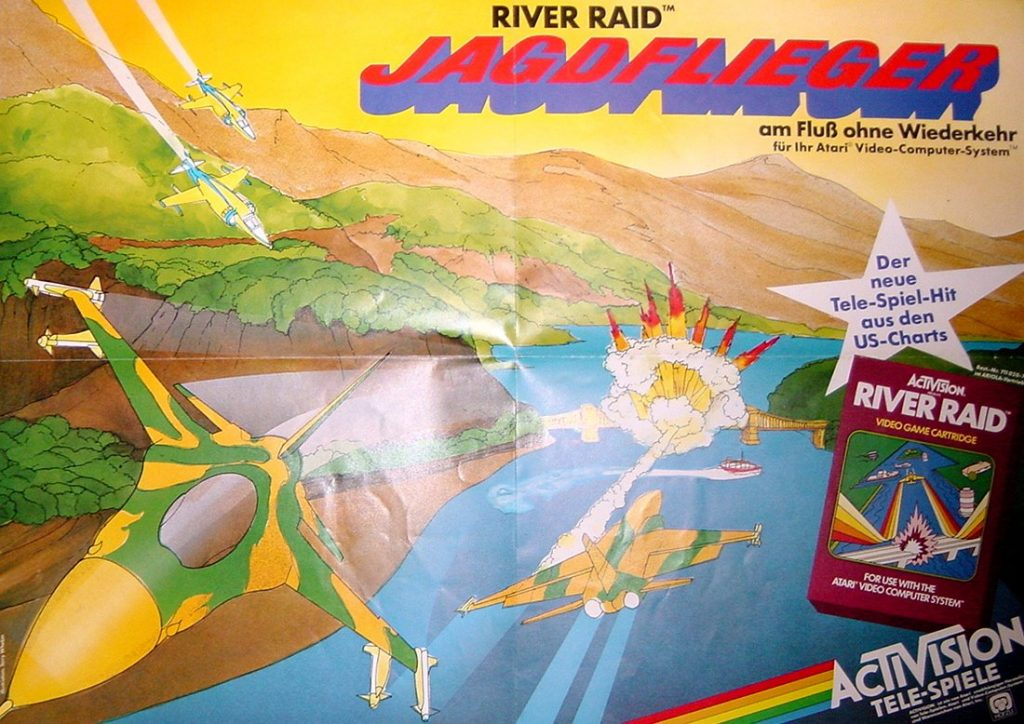 River Raid Poster - Jagdflieger am Fluss ohne Wiederkehr. (Bild: Guido Frank)