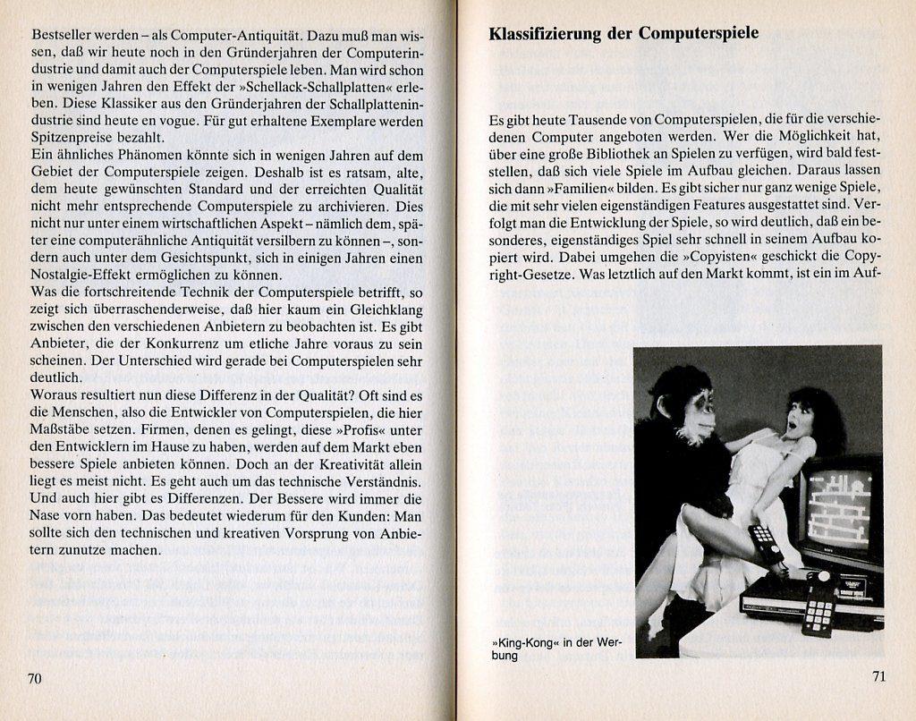 Leseprobe aus den Kapiteln Piktogramme oder Kinoqualität und Klassifizierung der Computerspiele. (Bild: Knaur Verlag)