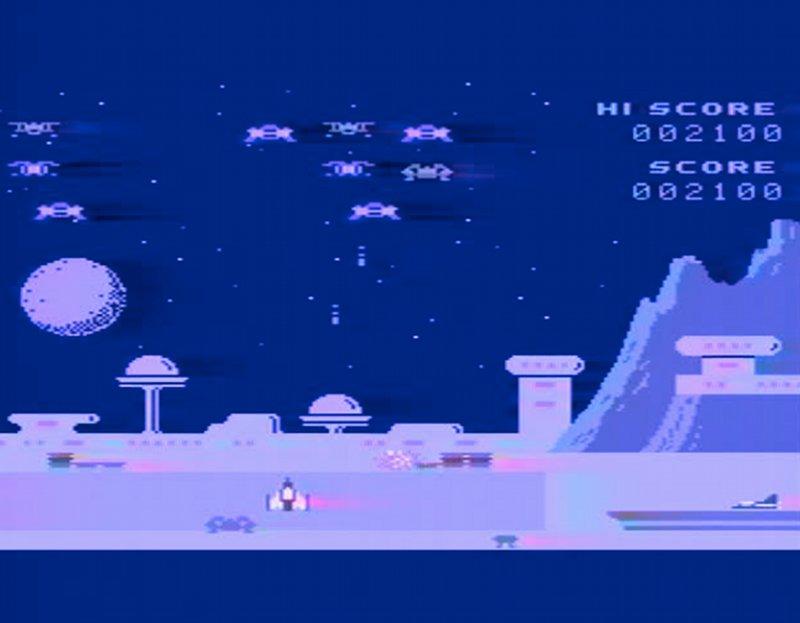 Spectron war ein von Spectravideo programmierter Space Invaders Klon, der 1984 trotz einiger zusätzlicher Features niemand mehr vom Hocker riss. (Bild: Torsten Othmer)