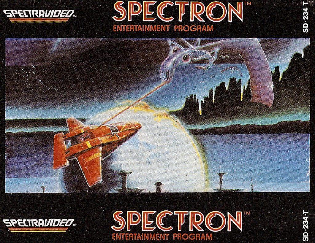 Spectron wurde 1983 von Spectravideo International Ltd. veröffentlicht und war ein typischer Weltraum-Shooter. (Bild: Torsten Othmer)
