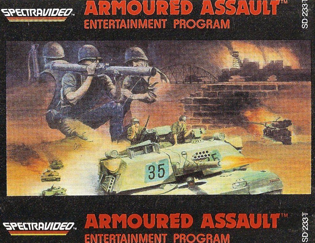 Bei Armoured Assault (ebenfalls 1983 veröffentlicht) handelte es sich um ein klassisches Tank-Battle-Spiel. (Bild: Torsten Othmer)