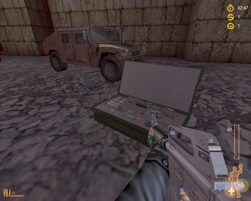Strike Force 1.81 - Eine Inventory Station - Map: Safe House. (Bild: André Eymann)