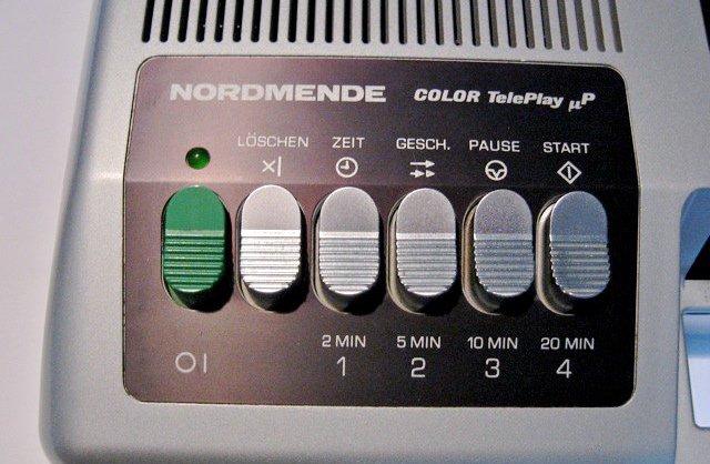 Bedientastatur des Nordmende COLOR TelePlay. (Bild: Torsten Othmer)