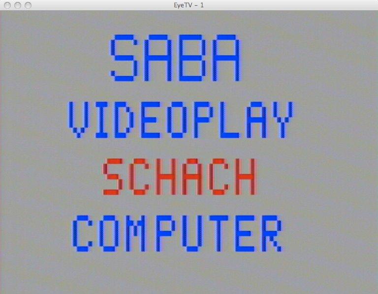 Screenshot des Schachmoduls für das SABA Videoplay. (Bild: Torsten Othmer)