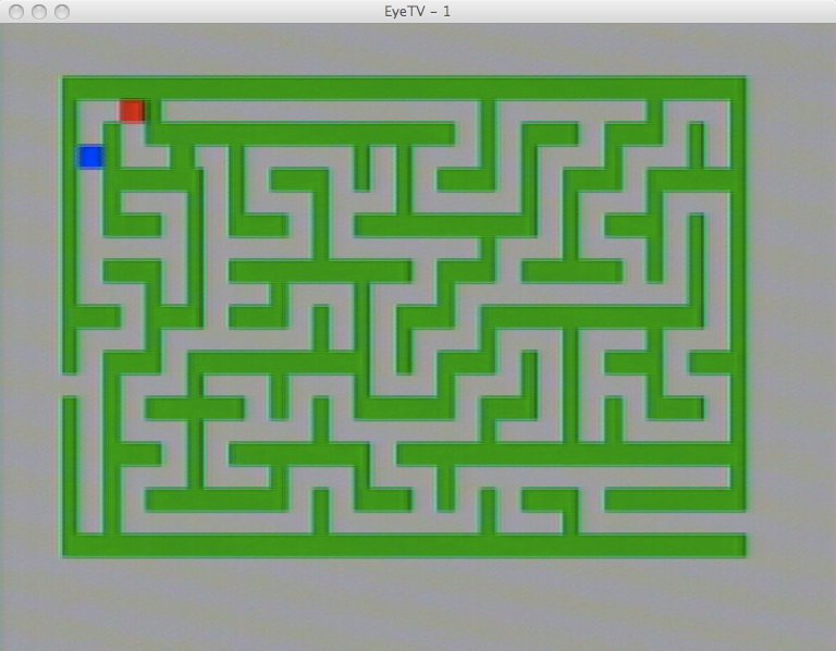 Das Spiel Labyrinth für das SABA Videoplay. (Bild: Torsten Othmer)