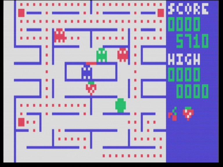 Screenshot von Pac-Man für das Channel F System. (Bild: Fredric Blåholtz)