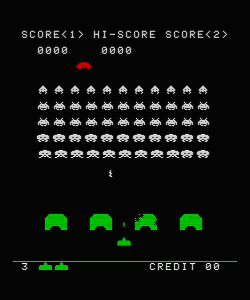 Space Invaders steht seit 30 Jahren für den galaktischen Erfolg der Videospiele. Ganz nebenbei führte dieses Spiel auch erstmals einen echten High-Score ein. (Bild: Taito)