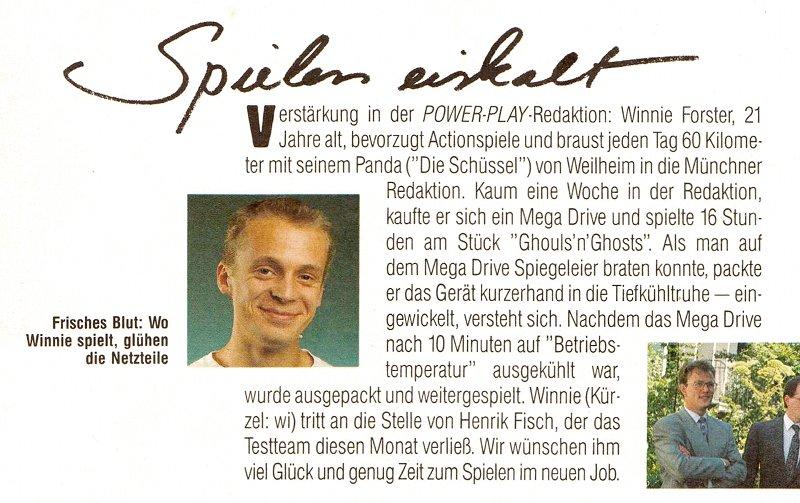 Frisches Blut in der Power Play Redaktion. Wo Winnie spielt, glühen die Netzteile! (Bild: Markt & Technik Verlag)