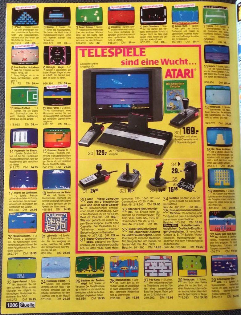 Werbung für das Atari 2600 System in einem OTTO-Katalog der 80er Jahre. (Bild: Christian Klein, www.thelegacy.de)