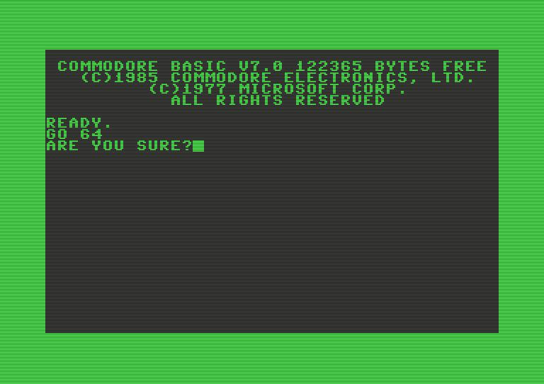 GO 64 - Ein Kommando das in die Geschichte der Heimcomputer einging. (Bild: Commodore)