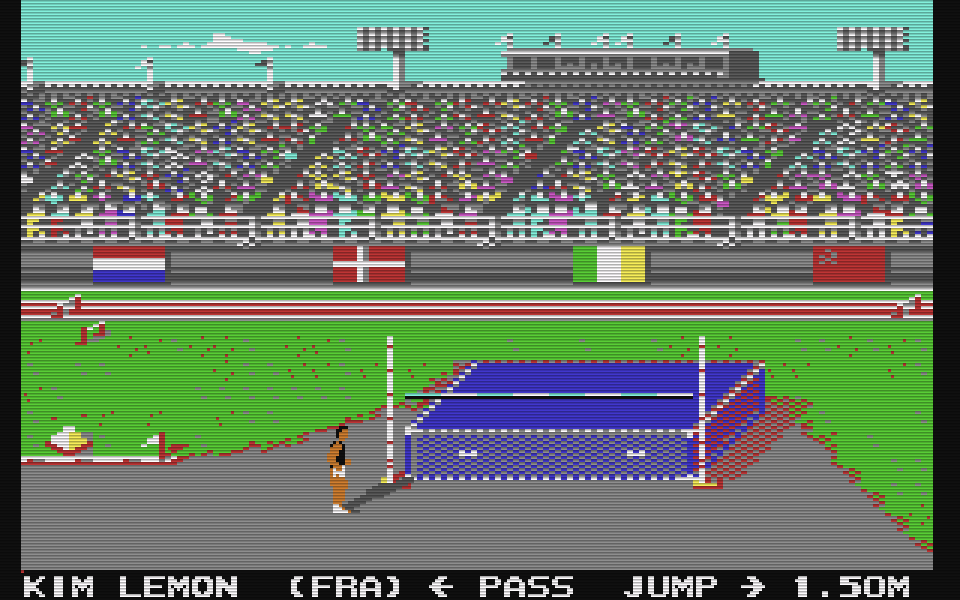 Summer Games für den Commodore 64. (Bild: Epyx, 1984)