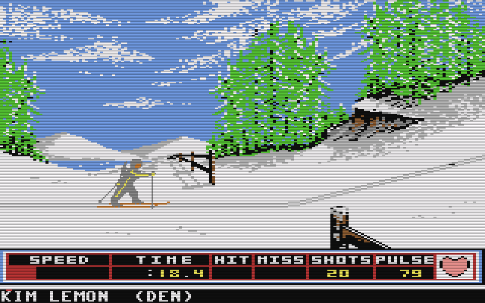 Winter Games für den Commodore 64. (Bild: Epyx, 1986)