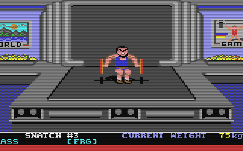 World Games für den Commodore 64. (Bild: Epyx, 1986)