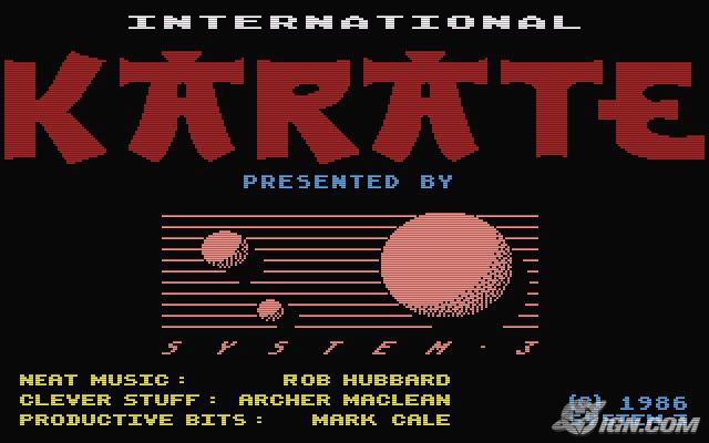 International Karate von System 3/Epyx aus 1986. Die zwei Kämpfer stehen vor einem malerischen Hintergrund. Sie sind wunderbar animiert... (Bild: System 3/Epyx)