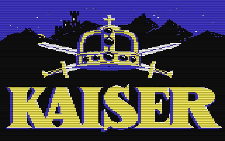 Kaiser war eine der ersten Wirtschaftssimulationen. Das Spiel wurde 1984 von Creative Computer Design entwickelt und von Ariolasoft vertrieben. Der erfolgreiche Titel wurde ursprünglich für den Atari 400/800 programmiert und erst danach für den Commodore 64 portiert. (Bild: Creative Computer Design)