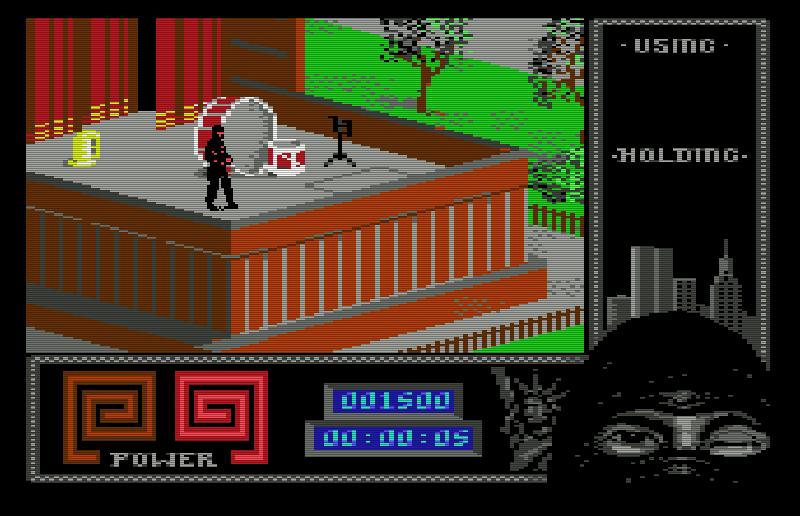 The Last Ninja II: Back With A Vengeance war ab 1988 erhältlich. Ab sofort gab es mehr Gegner als bisher. Unter den Widersachern befanden sich sogar Krokodile! (Bild: System 3)