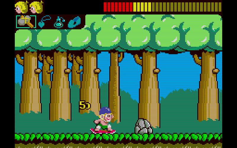 Die Spielhallenversion von Wonder Boy von SEGA aus 1986. Abenteuer in Höhlen oder Waldlandschaften. (Bild: SEGA)