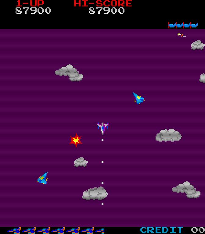 Time Pilot. (Bild: Konami, 1982)