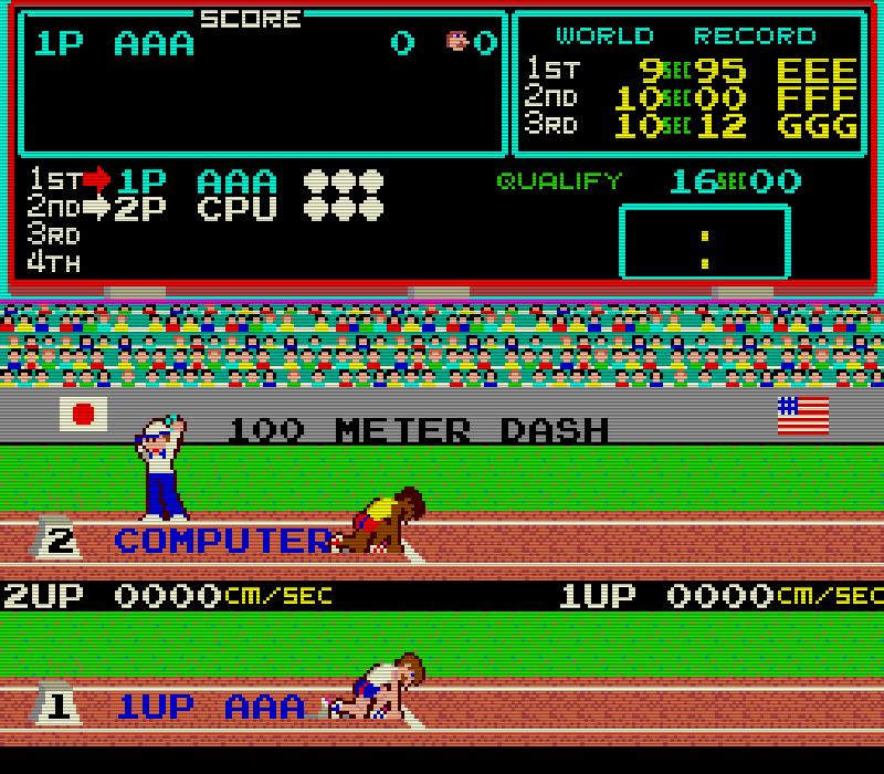 Hyper Olympic/Track & Field. (Bild: Konami, 1983)