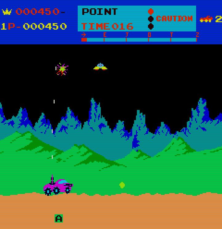 Moon Patrol. (Bild: Irem, 1982)