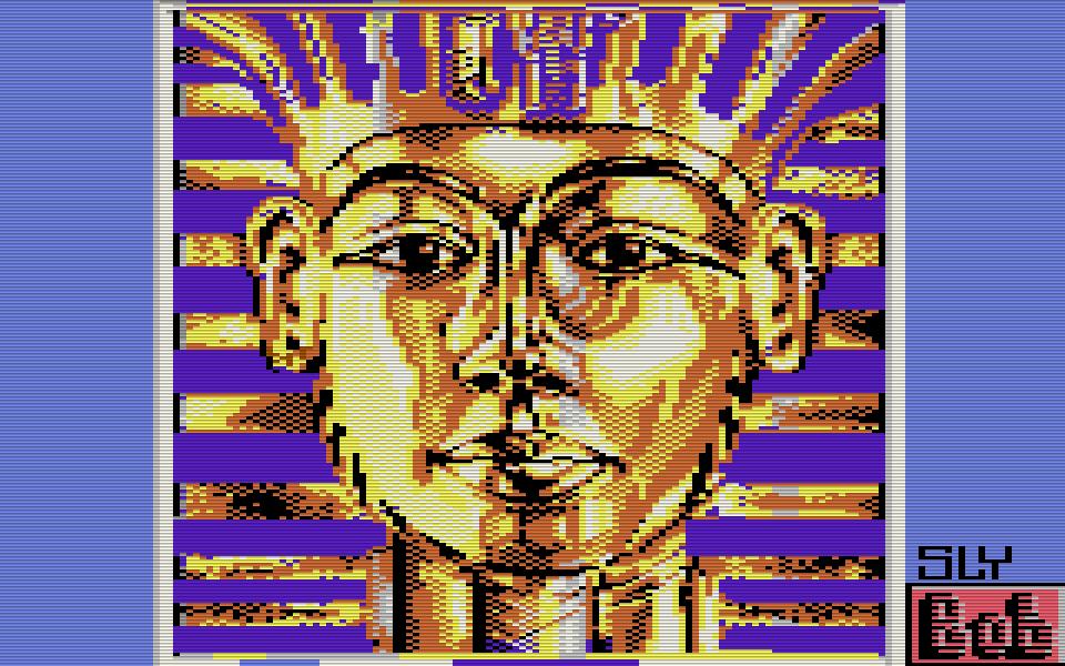 C64-Grafik von Tutanchamun. (Bild: Sly Bob, Jahr unbekannt)