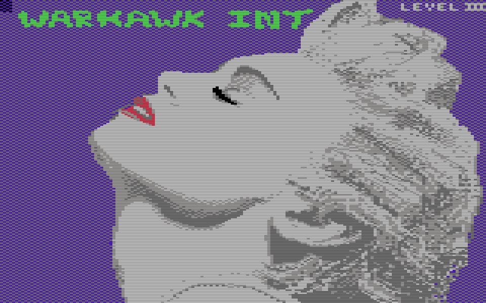 C64-Grafik von Madonna. (Bild: Warhawk Int/Level III, Jahr unbekannt)