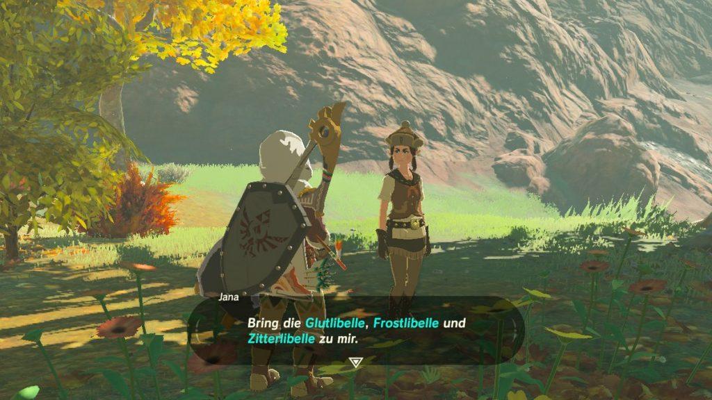 Spannende Aufgaben lauern überall in Zelda: Auf Heuschrecken folgen Libellen. (Bild: Ferdinand Müller)