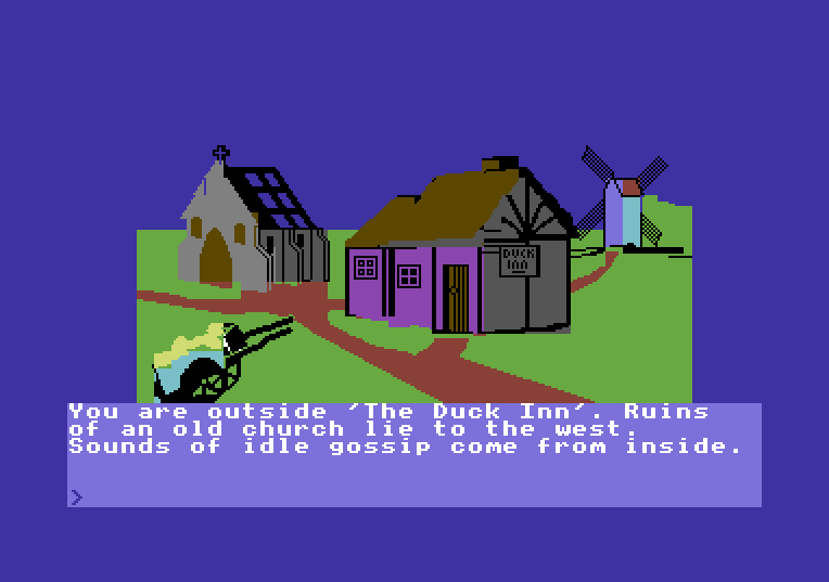 Castle of Terror von 1984. (Bild: Melbourne House, C64)