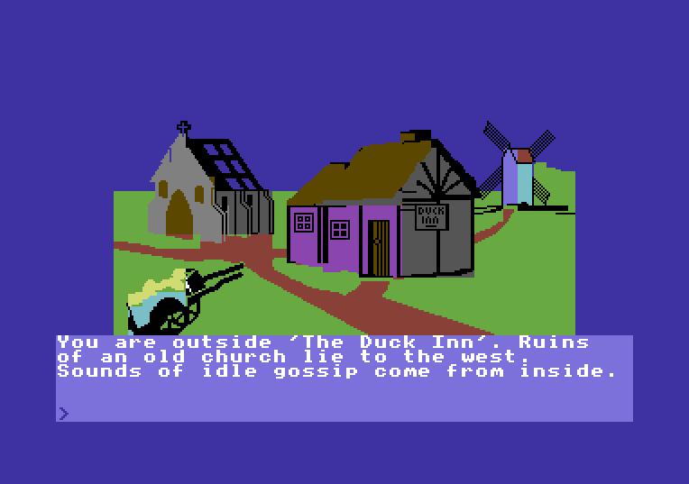 Castle of Terror von 1984. (Bild: Melbourne House, C64)
