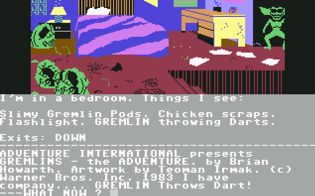 Gremlins - The Adventure von 1985, (Bild: Adventure International, C64)
